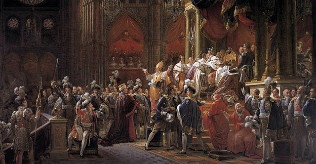 Coronation of Charles X of France by François Gerard, circa 1827.jpg